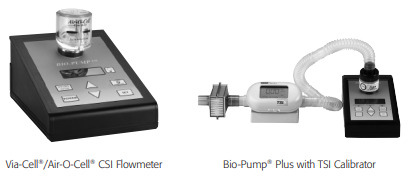 typical biopump calibration setup