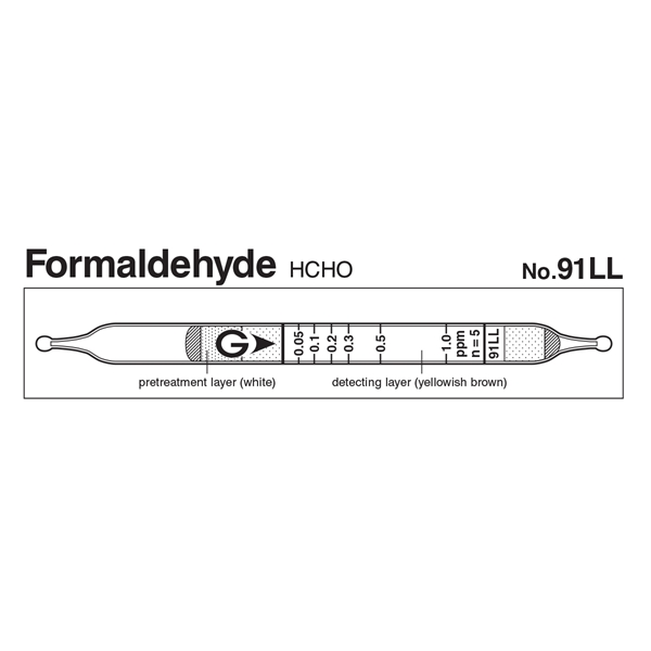 Picture of DETECTOR TUBE, FORMALDEHYDE, 10/BX