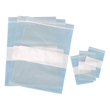 "Picture of BAG, 9"" X 12"", 2 MIL, ZIP W/WRITE ON, 100/PK"