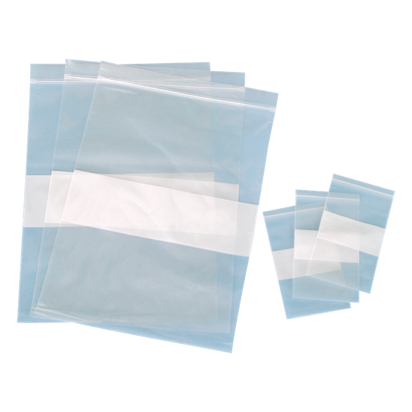 """Picture of BAG, 3"""" X 5"""", 4 MIL, ZIP W/WRITE ON, 100/PK"""